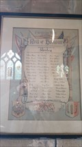 Image for Roll of Honour - St Michael - Shirley, Derbyshire