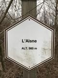 Image for 560 m. Signe d'altitude du lieu L'Aisne - Manhay - Belgique