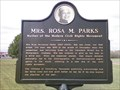 Image for Marker - Mrs. Rosa M. Parks