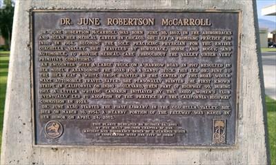 dr. june robertson mccarroll indio, ca signs of