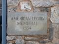 Image for American Legion Memorial 1934 - Greenville,SC
