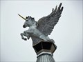 Image for Bronze unicorn spreads its wings above downtown Grapevine - Grapevine, TX