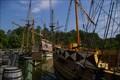 Image for Fleet of EnglishTall Ships first to arrive at Jamestown Settlement VA - Williamsburg VA