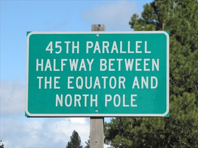Th Parallel North US Highway Oregon Great Lines Of Earth - 45th parallel map us