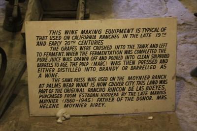 Typical Wine-Making Equipment -- Mission San Gabriel Archangel, San