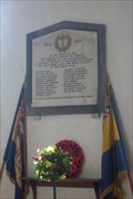 Image for WWI Memorial tablet, St.Mary the Virgin's Church, Henham, Essex.