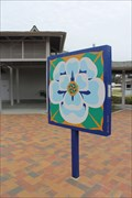 """Image for Blooming Louisiana"""" -- Louisiana Northshore Quilt Trail, WB I-10 Rest Area, Slidell LA"""