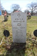 Image for John A. Barnes III, Brookdale Cemetery - Dedham, MA