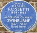 Image for Dante Gabriel Rossetti and Algernon Charles Swinburne - Cheyne Walk, London, UK