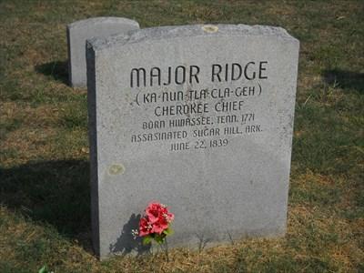 Major Ridge - Polson Cemetery - Rural Delaware County, Ok  - Grave