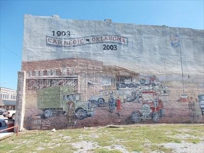 Centennial Mural - Carnegie, OK - Murals on Waymarking.com