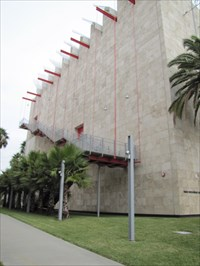 Side of Broad Contemporary Art Museum, Los Angeles