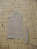 Image for Plaque 1er Guerre Collegiale Notre Dame - Montreuil Bellay, France