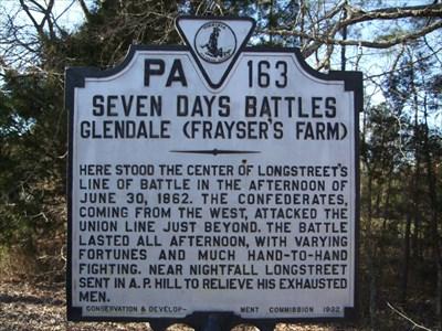 seven days battles glendale fraysers farm virginia