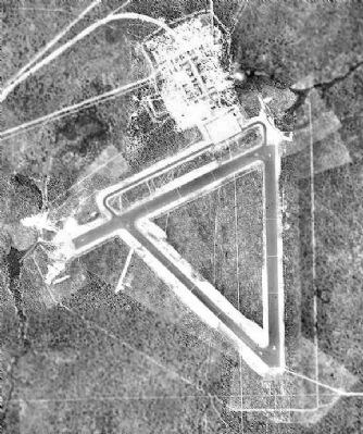 1949 Aerial photo of Wagner Field showing runway markings used by the Doolittle Raiders in their training.