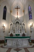 Image for Altar & Fonts -- San Agustin Catholic Cathedral, Laredo TX