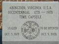 Image for Town Hall Time Capsule - Abingdon, Virginia
