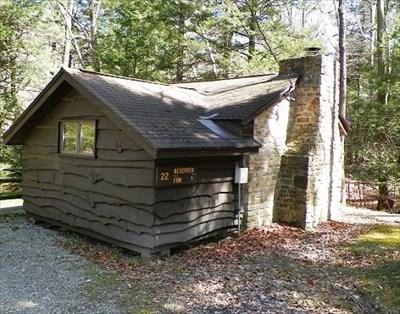 cabin 22 kooser state park family cabin district
