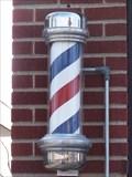 Image for Harolds Barber Shop Barber Pole - Saline, Michigan