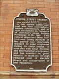 Image for Oneida Street Station T. M. E. R. & L. Co. Historical Marker
