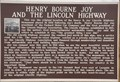 Image for Henry Bourne Joy and the Lincoln Highway