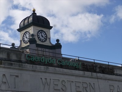 Cardiff Central Railway station - Cardiff, Capital of Wales.