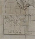 Image for Map of Texas Compass Rose -- Ned S. Holmes Performance Hall, Lamar High School, Houston TX