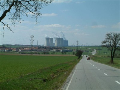 Village Dukovany and the power plant