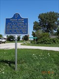 Image for INDIAN OVEN-IN historical marker-Indian Village,IN