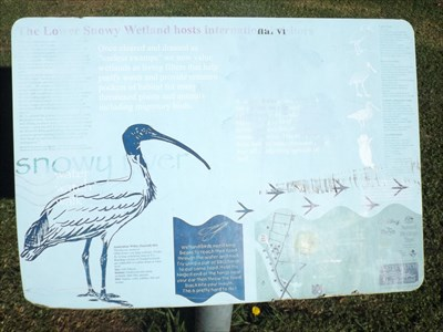 The full sign at the Wetlands of Forest Park, Orbost, Victoria. 1147, Saturday, 14 May, 2016