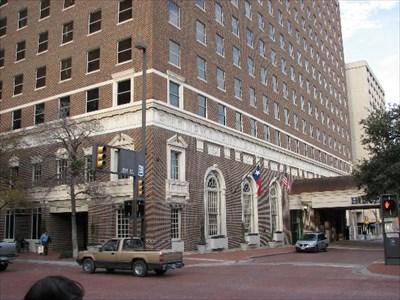 Jfk S Last Night Hotel Texas Fort Worth Tx John F Kennedy On Waymarking