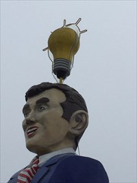 Lightbulb Shop Figure, From the RIght, Austin, Texas