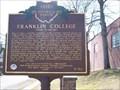Image for Franklin College, Alma Academy / Cornerstone of Civil Rights (Marker #3-34)