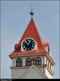 Image for Clocks on Hussite Church / Hodiny sboru Církve ceskoslovenské husitské - Vlašim (Central Bohemia)