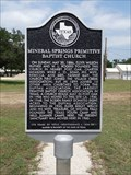 Image for Mineral Springs Primitive Baptist Church