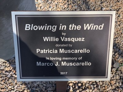 Blowing in the WInd Plaque, Fountain Hills, Arizona