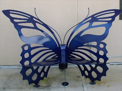 Butterfly Bench At The Mcguire Center Gainesville Fl Artistic Seating On