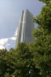As seen from the Myriad Gardens to the south of the Tower.