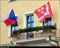 Image for Ledec nad Sázavou - municipal flag on Town Hall / mestská vlajka na radnici - Ledec nad Sázavou (Vysocina)