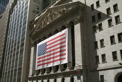 Visited NYC on business just a couple weeks after 9/11.  Took this photo of the NYSE building while walking around a somber city.