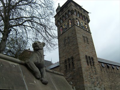 Clock Tower Statues - Mars - Cardiff Castle,Wales.