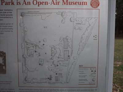 The map on the History Trail Sign of Rest Park.0850, Saturday, 2 December, 2017