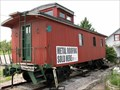 Image for NYC 19920 - Red wooden caboose - Spencer, IN