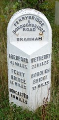 Image for Milestone - Unclassified Road parallel to A1(M), Clifford, Yorkshire, UK.