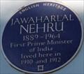 Image for Jawaharlal Nehru - Elgin Crescent, London, UK