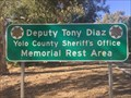 Image for Deputy Tony Diaz Memorial Rest Area, I-5 Northbound - Yolo County, California