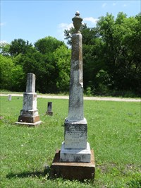 The Reverend Enoch P. Chisholm, one of the city namesakes, in Chisholm Cemetery.