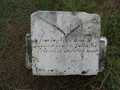 This looks like it might be the remains of Mrs. Harris