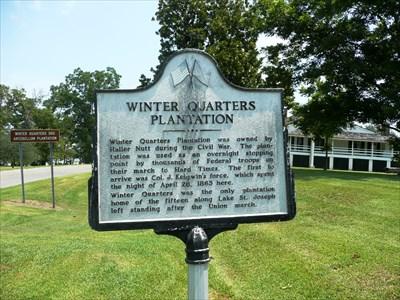 winter quarters plantation louisiana historical markers. Black Bedroom Furniture Sets. Home Design Ideas