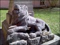 Image for Lev pod pamatnikem / Lion by memorial of WWI & WWII, Kamenice nad Lipou, CZ